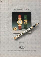 Publicité Advertising  1989  Montre TABBAH  collection BERET stylo ...
