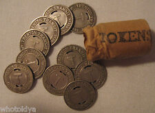 Trenton New Jersey NJ-885B ****ROLL OF 10**** Transit Tokens whotoldya Lot 12513