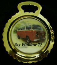 NEW VW VAN BAY WINDOW T2 Ceramic Horse Brass Volkswagen Van Gift WOW YOUR WALLS