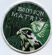 FIGHTING FALCON F-16 FIGHTER SWIRL PATCH COLLECTIONS: BAF 350 (F) Matrix SQN