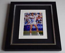 Stefan Edberg SIGNED 10x8 FRAMED Photo Autograph Display Tennis AFTAL & COA
