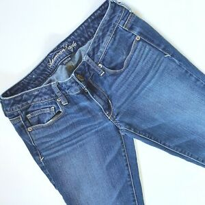 American Eagle skinny jeans size 6 long low rise medium wash