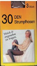 6 Paar: Strumpfhose in 30 DEN versch. Farben - nur Gr. 52-54