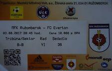 Ticket UEFA EL 2017/18 MFK Ruzomberok-Everton FC