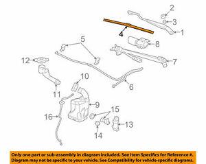 GENUINE GM 20844389  Front Wiper Blade - Driver Side - Beam Blade