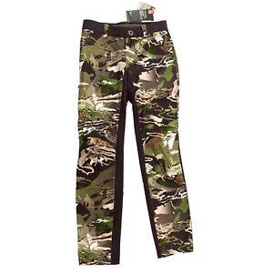 Under Armour Forest Camo Women's UA Storm Size 2 Water-Resistant Pants 129311
