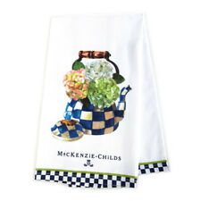 "MacKenzie-Childs Hydrangea Tea Kettle Dish Towel 26"" x 18"""
