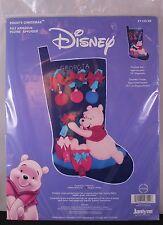 Disney Winnie The Pooh's Christmas Felt Applique Stocking Kit Janlynn 1133-22