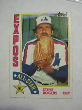 1984 Topps #394 Steve Rogers All Star Baseball Card, (GS23-23)