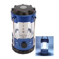 New Solar Panel Lantern Camp Outdoor Hand Crank 9 LED Bright Light Lamp