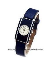 Omax Ladies Watch, White Dial, Blue Strap, (Silver) Seiko (Jpn) Mvt RRP £49.99
