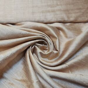 """PLAIN FAUX DUPION RAW SILK 100% POLYESTER UPHOLSTERY FABRIC BRIDAL MATERIAL 44"""""""