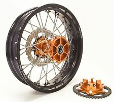 "WARP 9 CUSTOM WHEEL SET 21"" 18"" KTM 950 ADVENTURE CUSH HUB W/CARRIER & SPROCKET"