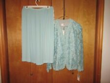 Vtg NWT In The Mood Mint Green Dress Size 14 Wedding Formal Pleated Skirt $110