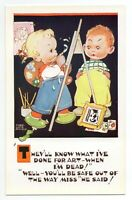 "Mabel Lucie Attwell 1950's POSTCARD 5329 ""THEY'LL KNOW WHAT I'VE..."" Unposted"
