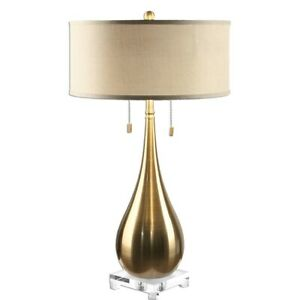 Uttermost Lagrima Brushed Brass Lamp - 27048-1