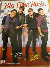 Big Time Rush, Taylor Lautner, Double Four Page Foldout Poster