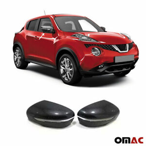 Fits Nissan Juke 2015-2020 Genuine Carbon Fiber Side Mirror Cover Cap 2 Pcs