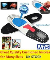 Men Women Gel ORTHOPAEDIC Orthotics Sport Running Shoe Insoles Pad Arch Support