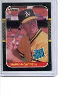 1987 Donruss # 46 Mark McGwire Rated Rookie Oakland Athletics