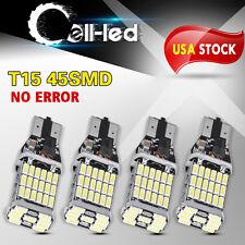 4x 45SMD LED Bulb Car Reverse Light T15 921 Bright Canbus Error Free Backup Lamp