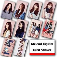 10Pcs / Set Kpop GFRIEND HD Waterproof Lustre Photo card Crystal Card Sticker