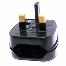 2 Pole Euro Europe EU Plug to 3 Pin UK Plug Fused Converter Mains Socket Adapter