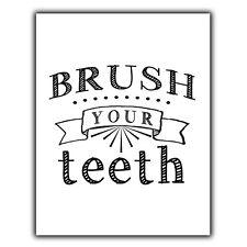 Brosser les dents Citation Métal Plaque Murale Signe humour salle de bain décor