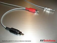 1 Metre - iPod/iPad/iPhone/MP3/PC/TV to BeoSound 4/BeoCenter 2, RCA Plugs (HQ)