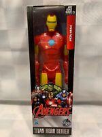"""IRON MAN Marvel Avengers Titan Hero Series 12"""" Hasbro Action Figure 2015 NEW"""