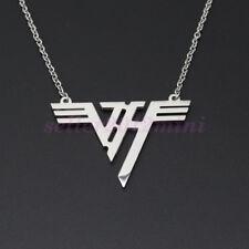 Hot VH Charm Eddie Van Halen band Logo Stainless Steel Pendant Necklace Jewelry