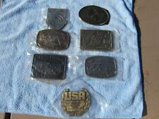 6 Olympic United States Shooting Team Belt Buckles
