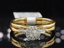 Diamond Engagement Ring Wedding Band 14K Yellow Gold Round Cut Bridal Set .25 Ct