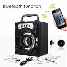 Bluetooth Wireless Portable LED Outdoor Super Bass USB/TF/AUX/FM Radio Speaker