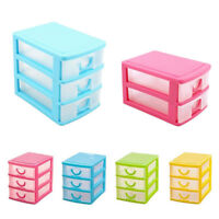 RA_ 2/3 Layers Desk Drawer Cosmetic Jewelry Organizer Container Storage Box Ey