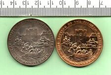 More details for 1970 pair of genuine pilgrim fathers 350th anniversary medallions