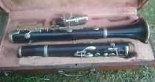 Vintage French Couesnon, Paris Wood Clarinet With Case For Restoration