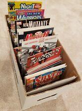 Short Box of 175+ Marvel Comics VF+ Avg Punisher, Wolverine, New Warriors