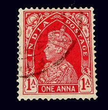 1937 India stamp  / 1 Anna/ Red   Used