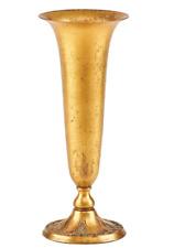 "Louis C. Tiffany ~ Tiffany Furnaces Antique 11"" Favrile Bronze Trumpet Vase"