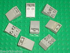 8 x LEGO OldGray Slope Brick ref 3747 / Set 10129 7146 7134 7150 10026 7152 4479
