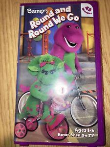 Barney VHS Lot 2 - Round and Round We Go (VHS, 2002) The Backyard Show  1992