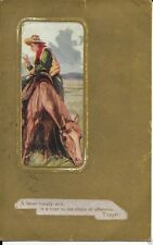 Cowboy Themed Postcard Circa 1913