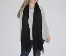Sale! Winter Long Wide Warm Black Viscose Shawl Wrap Christmas Birthday Gift