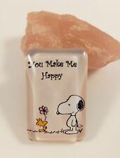 Snoopy & Woodstock You make me happy  - Peanuts / Magnet Kühlschrankmagnet Neu
