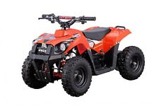 Kids Four Wheeler ATV 500W 36V Orange Electric Battery Ride On Mini Quads Toy