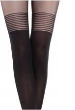 Calzedonia tights fashion pantyhose t. 4  LONGUETTE RIGHE italy strumpfhosen