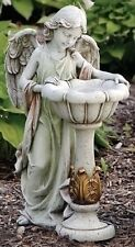 "23""Girl Angel with Solar Bird Bath Outdoor Garden Statue Joseph's Studio # 47237"
