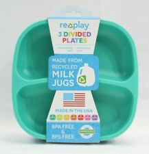 Re Play Recycled Divided Plates Toddler Kids FDA Approved Set Of 3 NEW