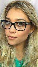 New PRADA VPR 1R0 1AB-1O1 53mm Black Cats Eye Women's Eyeglasses Frame